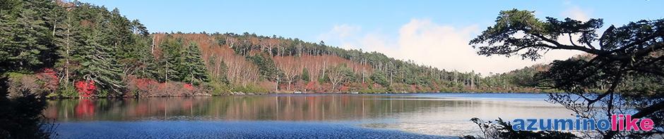 2016/10/20【白駒の池】佐久市からメルヘン街道に入り、その最高地点(標高2127m)近くにあるのが白駒の池です。