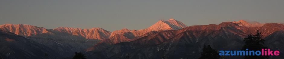 2018/1/14 我が家から見る冬の常念岳