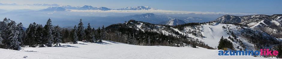 2018/3/12【 志賀高原スキー場】春スキーながら、雪質も景色も最高でした。