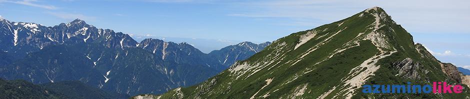 2018/8/2【 唐松岳と劔岳と】唐松岳登山の山頂アタック、頂上山荘から見た唐松岳と劔岳は何とも迫力がありますね。