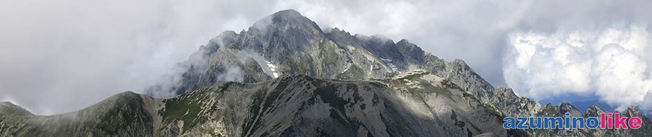 2018/9/3【 立山から見た劔岳】立山山頂付近から一瞬だけ見えた剣岳ですが、迫力満点でした。