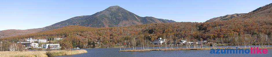 2018/10/28【 白樺湖から見た蓼科山】白樺湖は紅葉のピークを過ぎた感じですが、山を登る道中は紅葉真っ盛りで心弾むひとときでした。