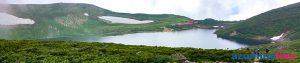 2019/8/1【白馬乗鞍岳から白馬大池へ】乗鞍岳山頂から奥へ少し下ったところにあるのが白馬大池で、そこは山深く自然そのものの池でした。