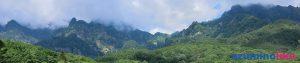 2019/8/26【神秘な山、戸隠】天気は雲が多かった分、神秘的な佇まいの戸隠山でした。