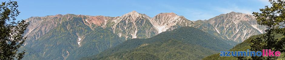 2019/9/7【白馬岩岳から見る白馬三山】天狗の庭と言う場所からみた白馬三山で、岩岳山頂からとはまた違った雰囲気の山容でした。