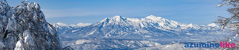 2020/1/22【初滑りの野沢温泉スキー場】絶好のスキー日和、雪質もパウダー天国でした。遠くに見えるは左が妙高山、右が火打山ですね。