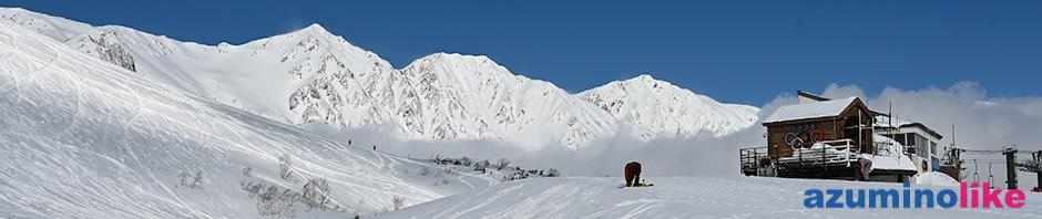 2020/2/28【アルペンの聖地、白馬八方尾根スキー場】前夜の雪も上がり、晴れ渡った八方尾根。うさぎ平トップから見る白馬三山はその凄さにいつも圧倒されます。